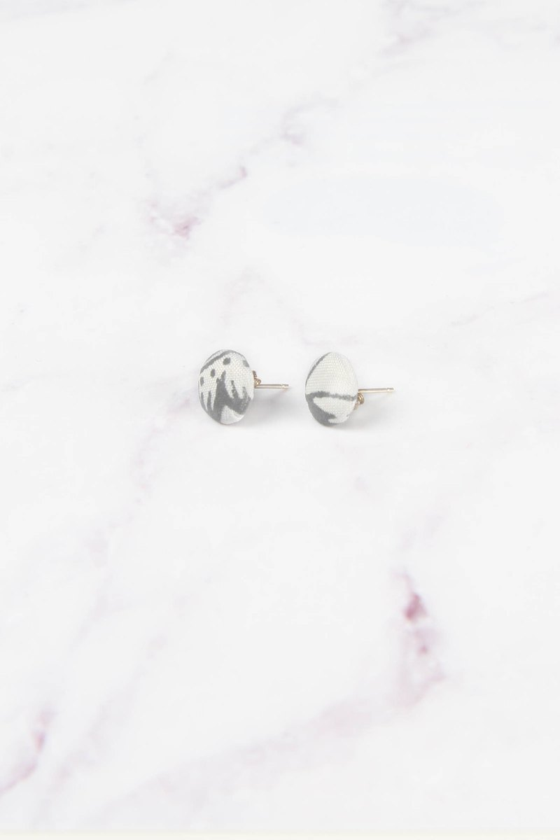 Cosmic Series Reflective Earrings - Moon