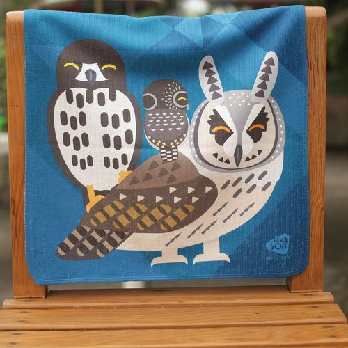 OWLS OF TAIWAN TOWEL
