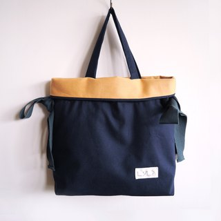 3 way bag with big bow - Deep blue