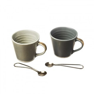 British Selbrae House Fashion Ceramic Coffee Mug on Cup with Copper Spoon Exquisite Gift Set