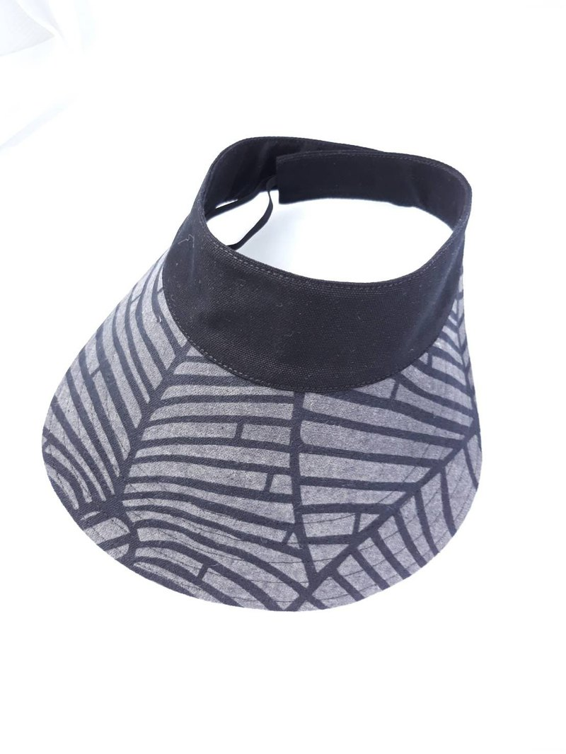 Black grey leaf cotton sport Visor