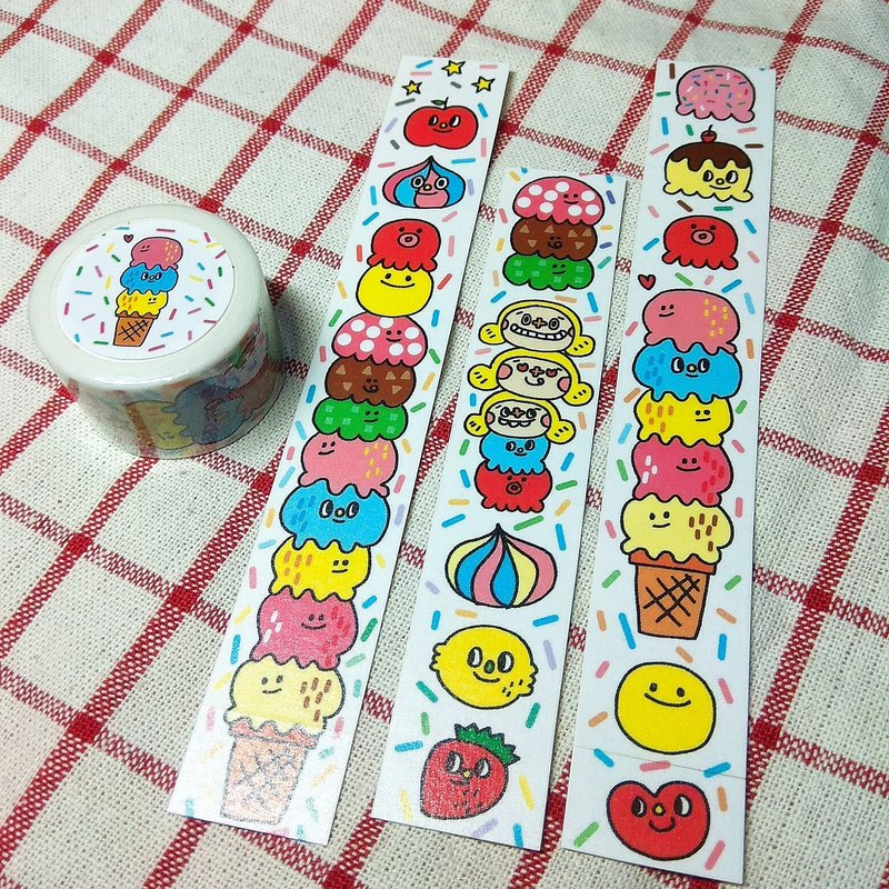 Happy food / paper tape