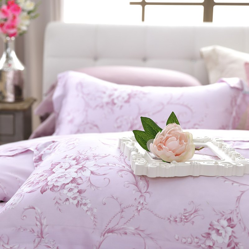 Large size - Love Florence - Tencel was four sets of bed linen [100% through the SGS test Lacey Tencel]