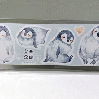 Emperor penguin waterproof stickers / tent stickers