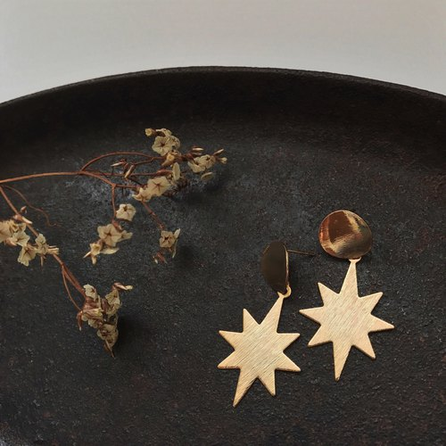 Marygo Star Mans. Earrings