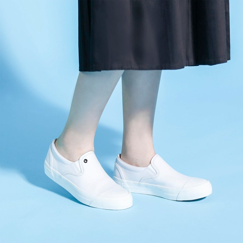Clogs Classic College Lazy Shoes_6SS001_White