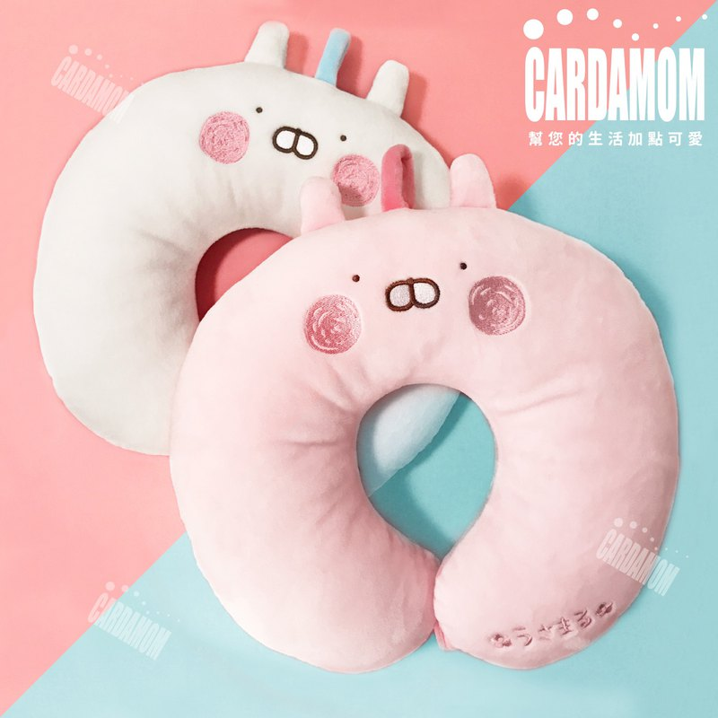 【USAMARU rabbit pill】 Shu pressure soft neck pillow - to pink you genuine authorized card international