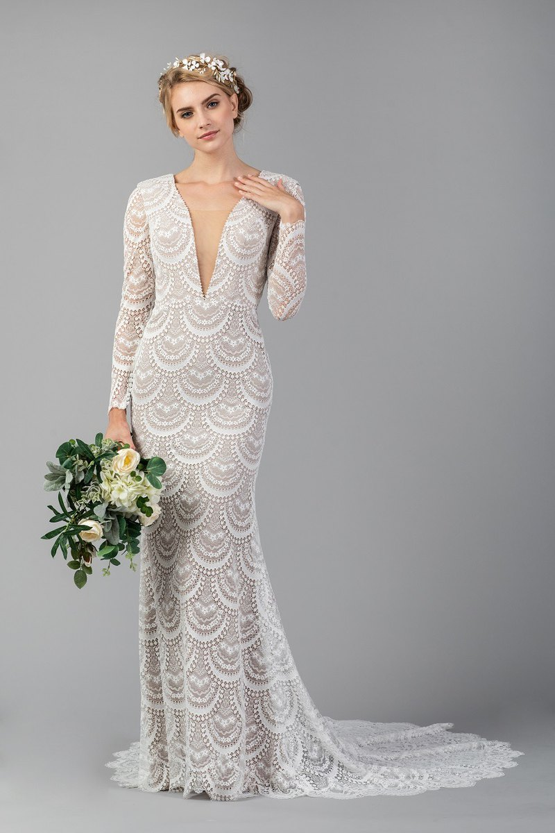 JABD Signature Boho Long Sleeve Wedding Dress
