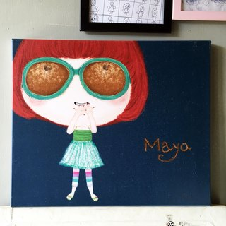 Maya can not see me painting printed works HUA-0025