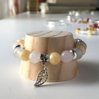 Health Bracelet - Topaz - Rose Quartz - Beads Precious Stones - Craft Jewelry