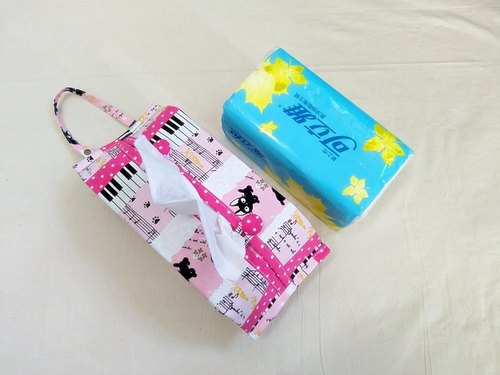 Pink Piano Key Cat Activity Hanging Toilet Paper Set / Paper Cover / Car / Baby Cart