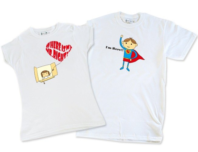 Lovers Dialogue T-shirt _Where is My Mr.Right?