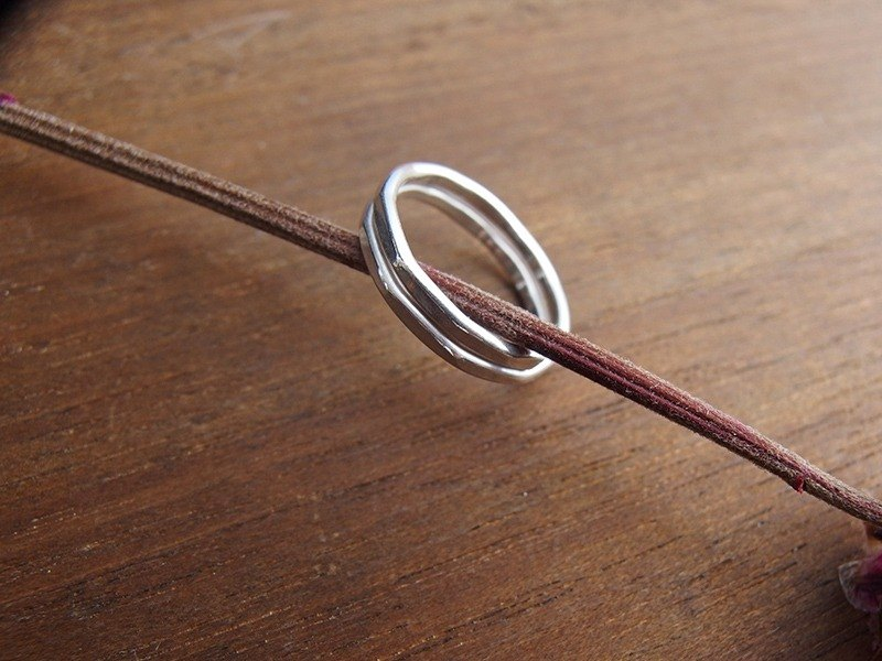 Simple life forging sterling silver ring / simple and easy