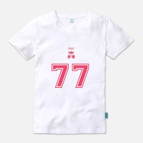 Mori No. 77 (red version) - Neutral short-sleeved T-shirt