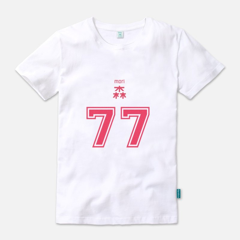 Mori player with back number 77 (red version) - neutral short-sleeved T-shirt