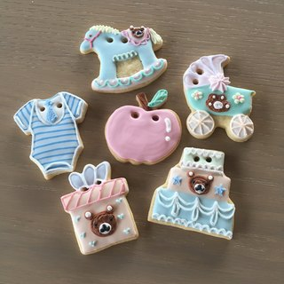 NIJI Cupcake* Receiving Bear/Bunny Sugar Cookie 6 Pieces
