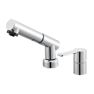 Column pull-out basin faucet