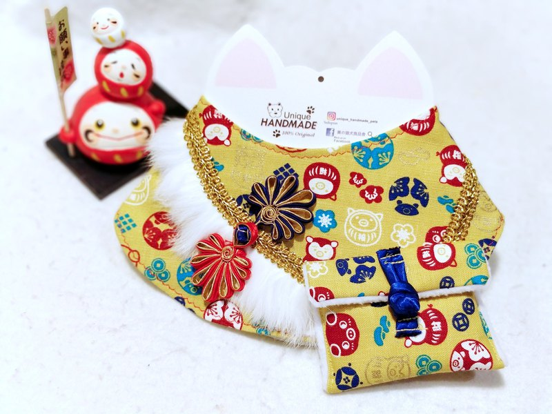 New Year's greetings, year of the pig, pet scarf, neck ornaments, is a teasing, NY, neck wear collar