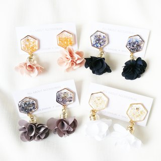Petal tassel series - Petal tassel earrings ear clip / ear clip