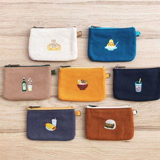 Taiwanese snacks - canvas lightweight flat coin purse