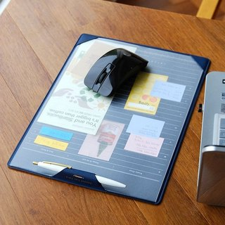 PLEPIC-Office Storage Leather Mouse Pads - Navy Blue, PPC92900
