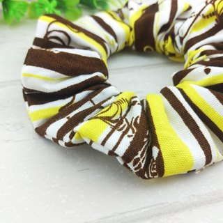 Fashion zebra. Handmade donuts hair bundle / large intestine circle