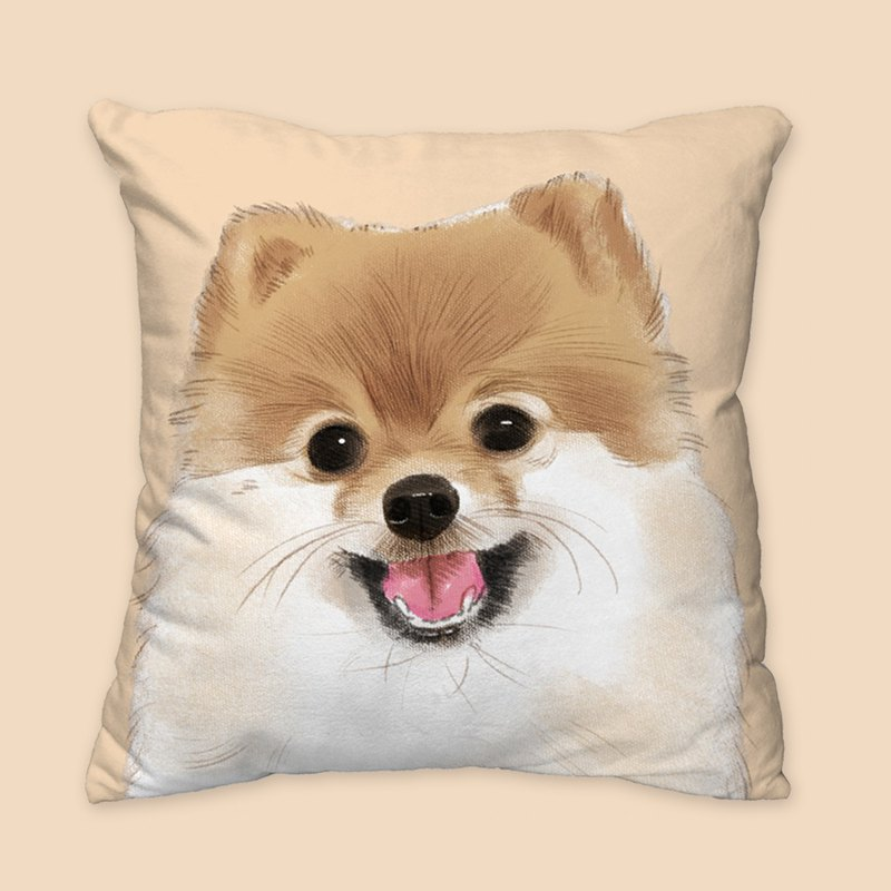 [I will love you forever] Classic coffee Bomei dog animal pillow / pillow / cushion