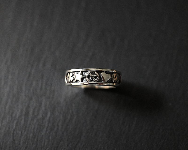 Antiwar sterling silver anti-war ring