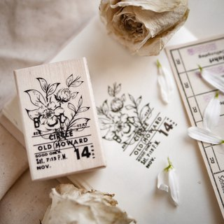 Maple Wood Flower Stamp B
