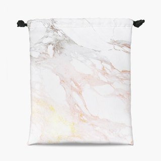 Drawstring Pouch - Golden Marble