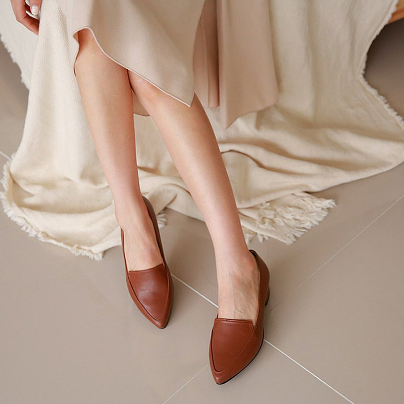 PRE-ORDER韓國人手製 MACMOC Monto BROWN 平底鞋