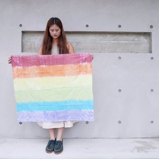 : Rainbow: Hanging Banner Banner Fabric Marriage LGBT Hand Dyeing