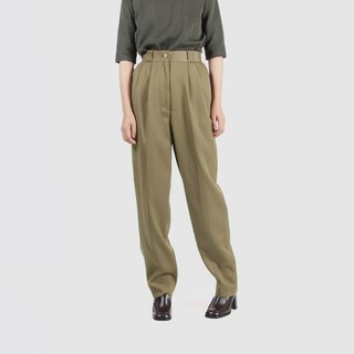 [Egg plant ancient] simple life loose wool vintage old pants