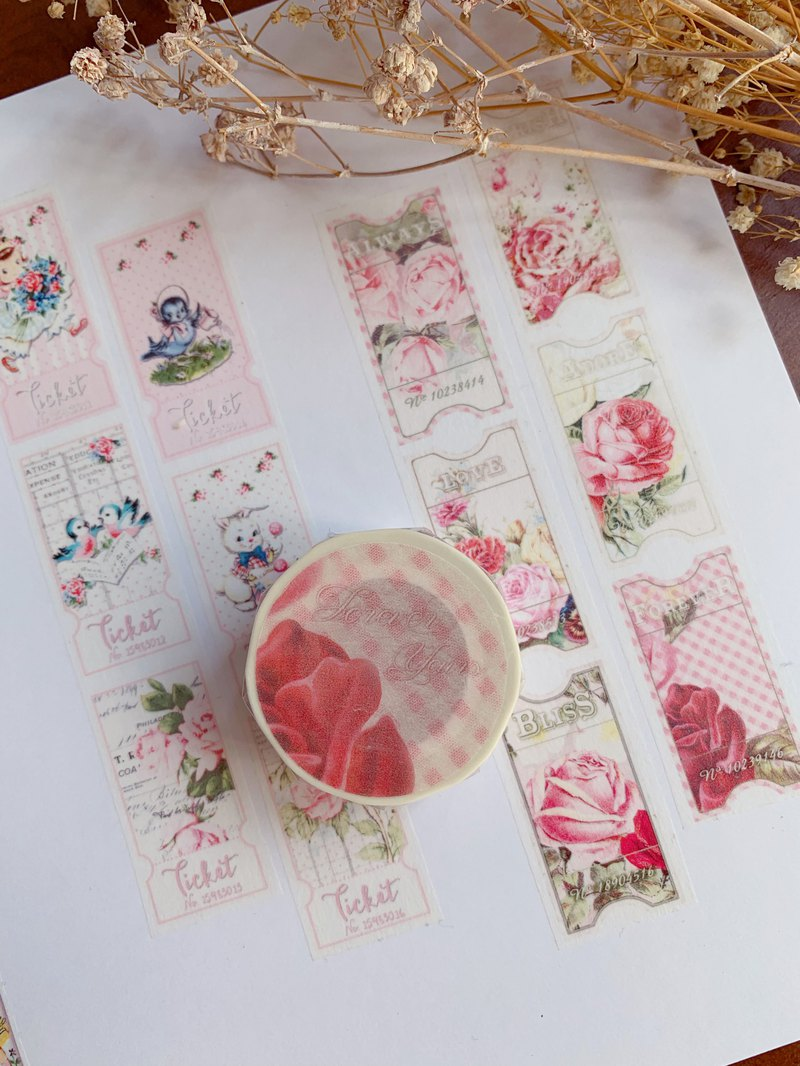 Spring Day Theme Forever Yours Paper Tape Vintage Rose Flower
