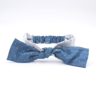 /Handmade ribbon headband/ Snowing