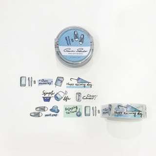 [Simple life series] blue fresh 15mm watercolor paper tape matte