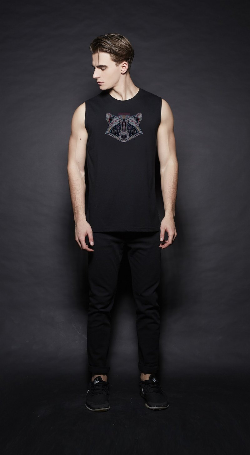 British Fashion Brand -Baker Street- Zentangle Coon Printed Tank Top