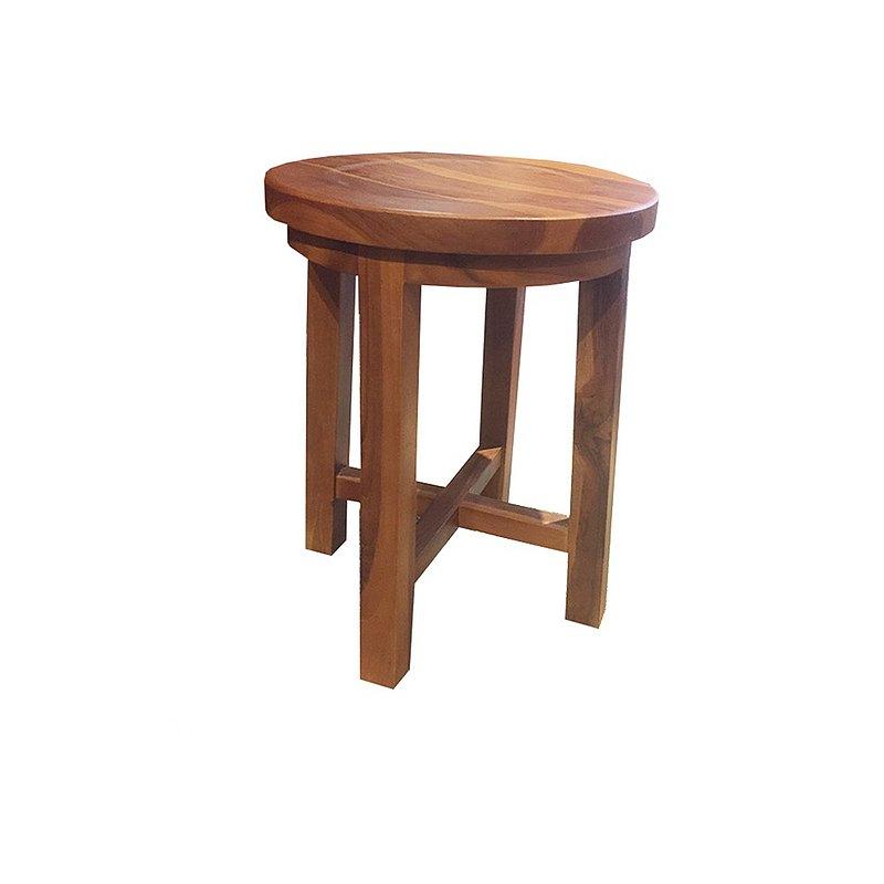 吉迪市JatiLiving |柚木簡約造型圓板凳 椅凳 椅子洗澡椅 ETCH012