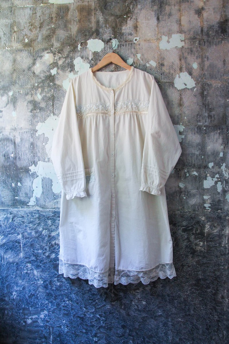Vintage Lace Comfortable Long Sleeve Cotton Pajamas