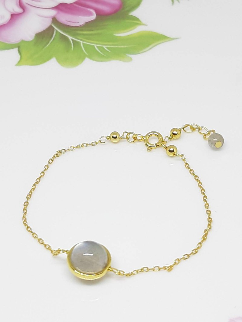 Sterling Silver Bag 14K Labradorite Bracelet - Bracelet - Mother's Day - Birthday - Valentine's Day