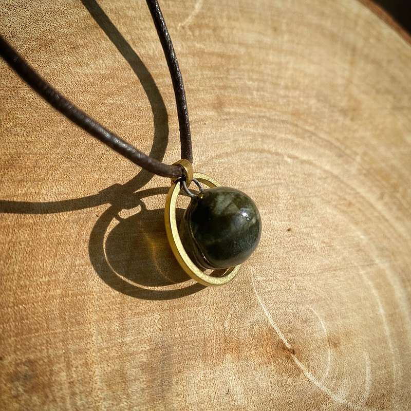 Calm moss green glaze ring perfume essential oil necklace
