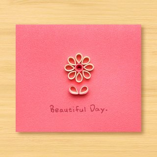 Handmade Roll Paper Luminous Card _ Warm Flower Beautiful Day _ A ... Valentine Card