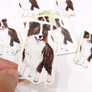 Puppy Series Sticker-Stickers,Watercolor,illustrations,Sticker,Border shepherd Sticker,cute Stickers,Handmade Sticker,Laptop Sticker