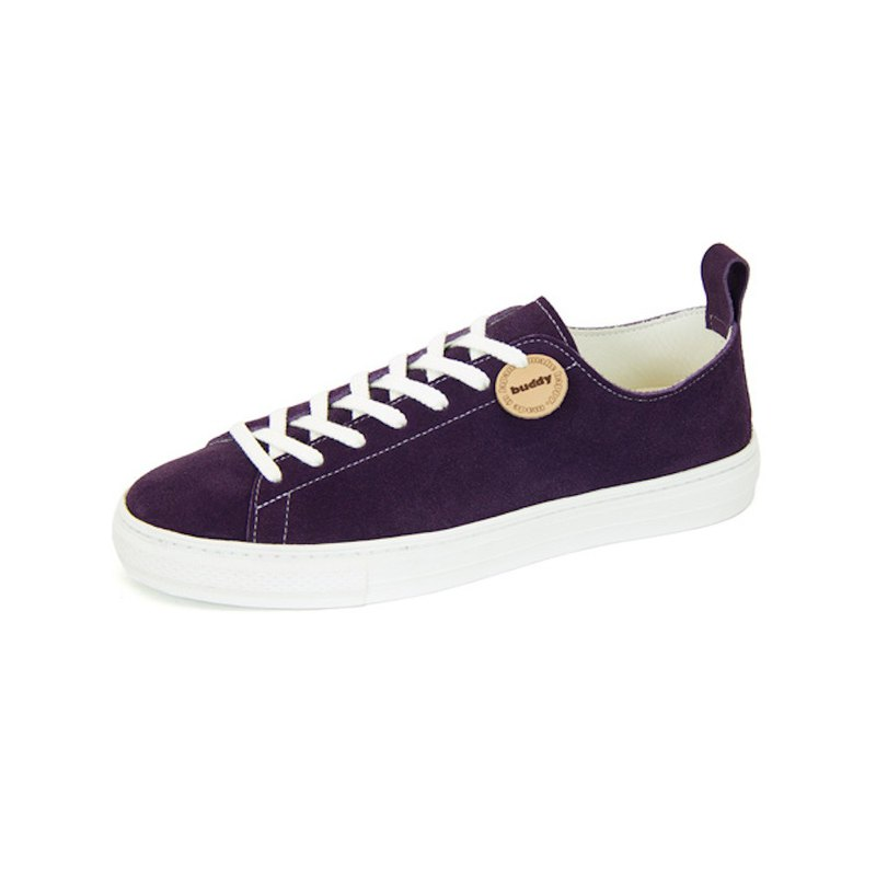 Bull Terrier Low Purple / purple leather sneakers