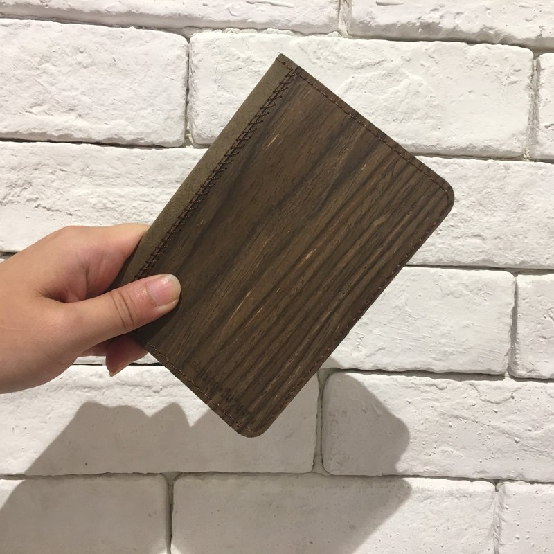Full wooden passport holder