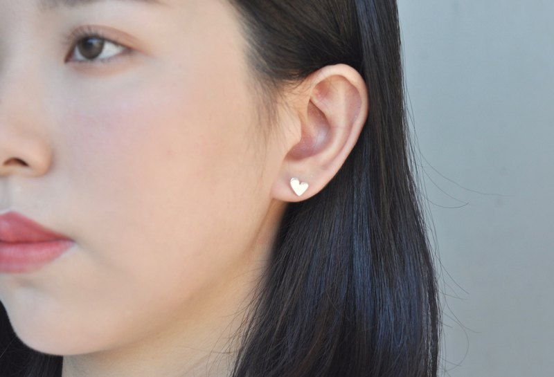 Ermao silver [geometric thick asymmetrical love earrings] can be mixed and sold
