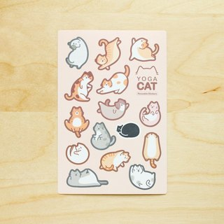 YOGA CAT Reusable Stickers