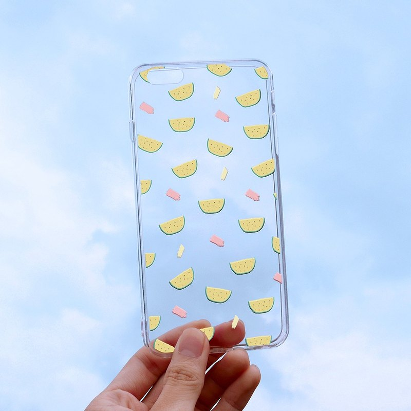 "A lot of jade watermelon ""relief soft shell"" -iPhone (i5, i6s, i6splus, i7.i7plus) / Android (Samsung, HTC, Sony) original phone case / transparent protective cover"