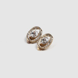 [Egg Plant Vintage] Ring Planetary Clip Antique Earrings
