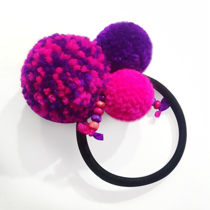 Customized / handmade hair ball hair ring / bracelet
